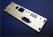 cnc engraved front plate by Quartz Technical Services for electronic equipment