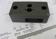 cnc machined box by quartz tsl